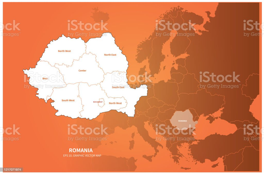 Romania Map Vector Map Of Romania In Europe Stock Illustration Download Image Now Istock