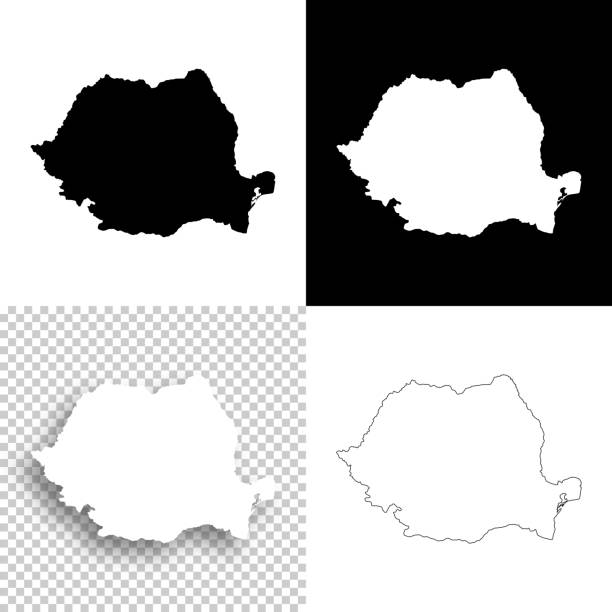 Romania maps for design - Blank, white and black backgrounds Map of Romania for your own design. With space for your text and your background. Four maps included in the bundle: - One black map on a white background. - One blank map on a black background. - One white map with shadow on a blank background (for easy change background or texture). - One blank map with only a thin black outline (in a line art style). The layers are named to facilitate your customization. Vector Illustration (EPS10, well layered and grouped). Easy to edit, manipulate, resize or colorize. Please do not hesitate to contact me if you have any questions, or need to customise the illustration. http://www.istockphoto.com/portfolio/bgblue romania stock illustrations