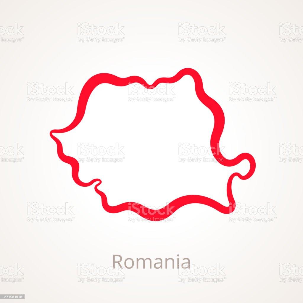 Roumanie - carte muette roumanie carte muette vecteurs libres de droits et plus d'images vectorielles de carré - composition libre de droits