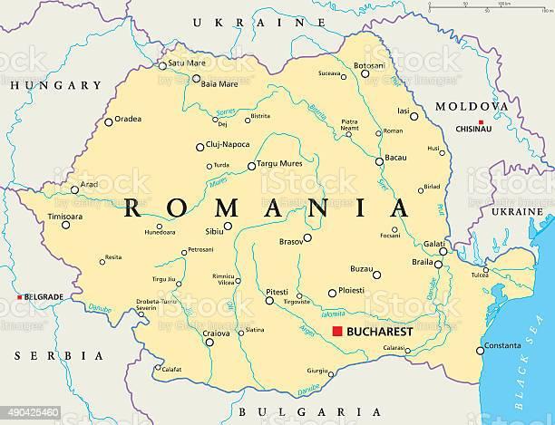 Cartina Stradale Della Romania.Romania Mappa Politica Immagini Vettoriali Stock E Altre Immagini Di 2015 Istock