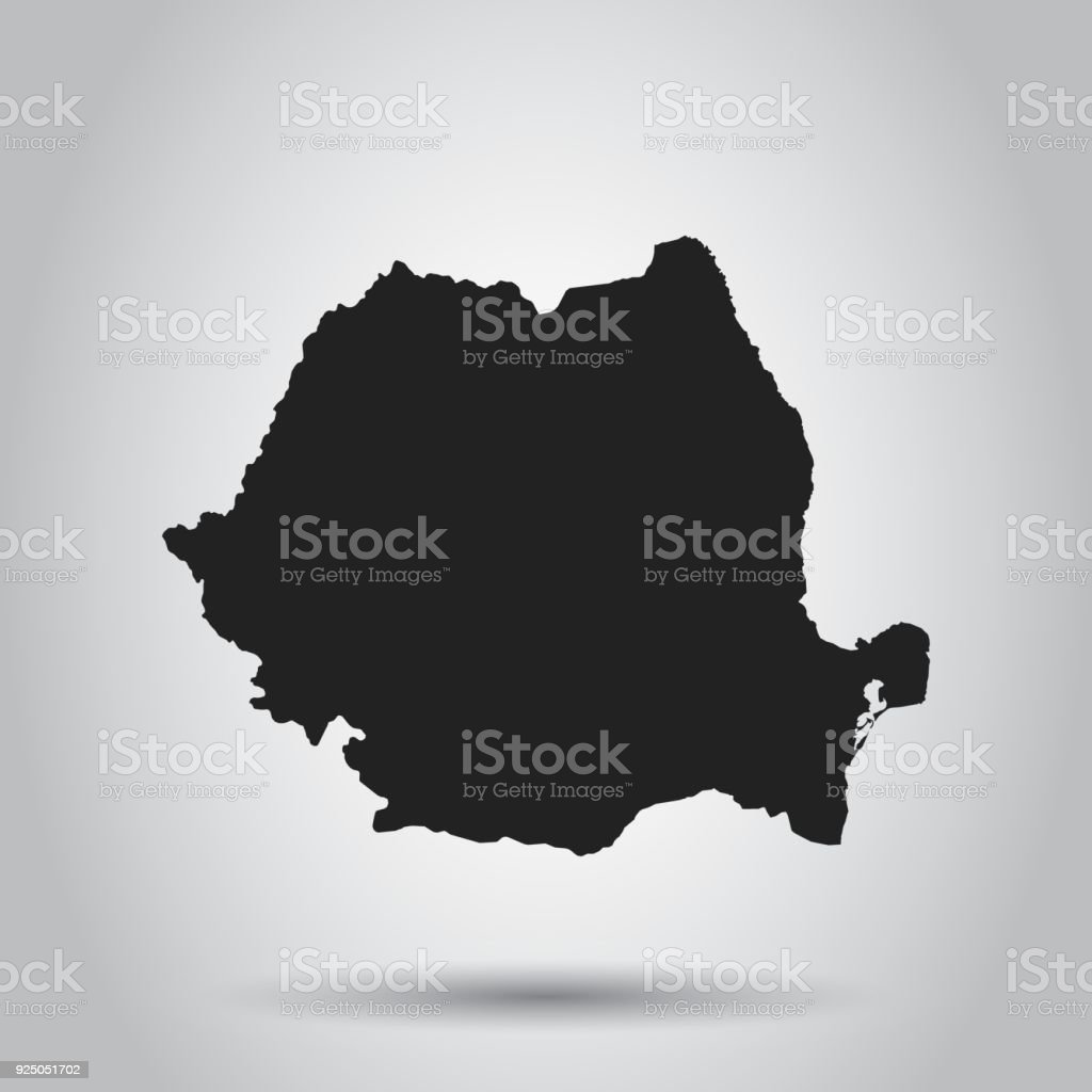 Romania vector map black icon on white background stock vector art romania vector map black icon on white background royalty free romania vector map gumiabroncs Images