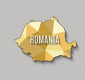 Romania World map. World geography. vector illustration