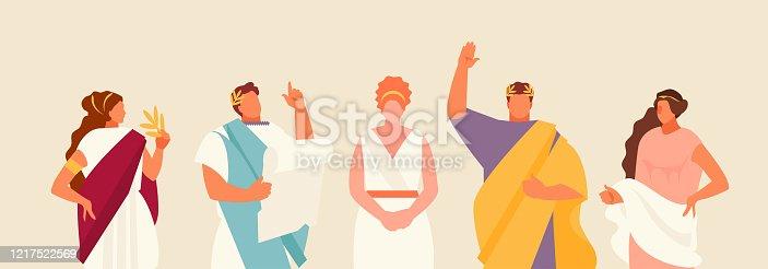 istock Romans people vector set 1217522569
