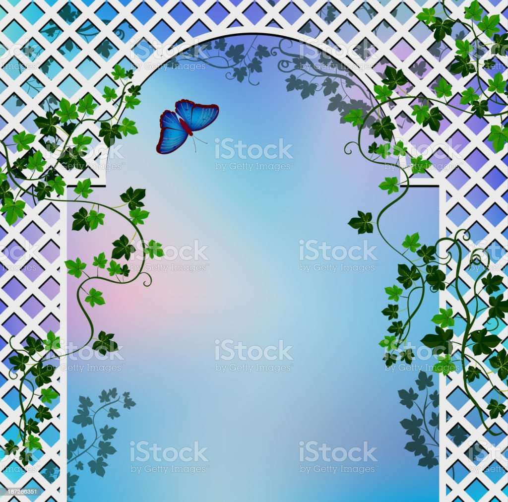Romantic arbor vector art illustration