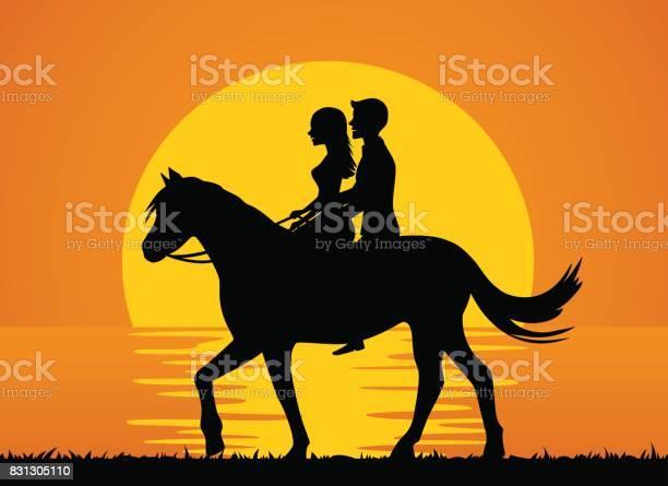 Romantic background with couple riding horse on the beach at sunset vector id831305110?b=1&k=6&m=831305110&s=612x612&h=o8xfhjupclmzbpjcb2i6lelzet2 kunzboxfj19fsbc=