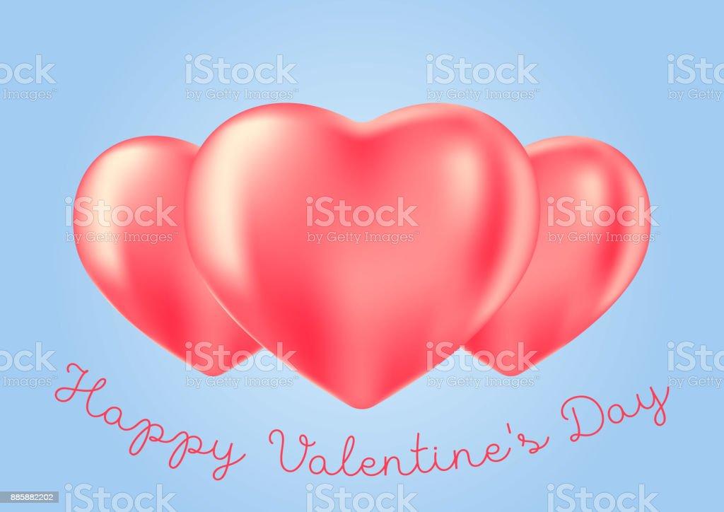 Romantische Achtergrond Met Roos Hart Ballonnen Aftelkalender Voor