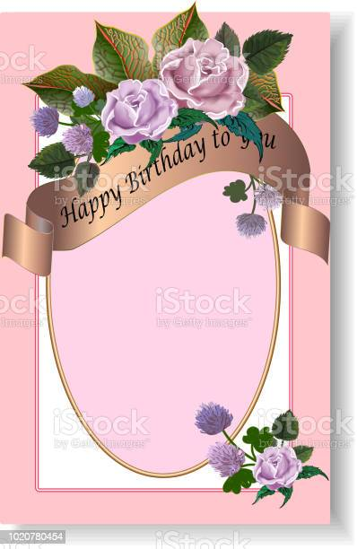 Romantic birthday greeting card in pink color vector id1020780454?b=1&k=6&m=1020780454&s=612x612&h=y6an87evylpv0u kev nqx0lgzwezdrjn6hzrn51szg=