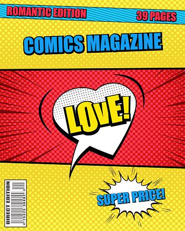 Romantic comics magazine template