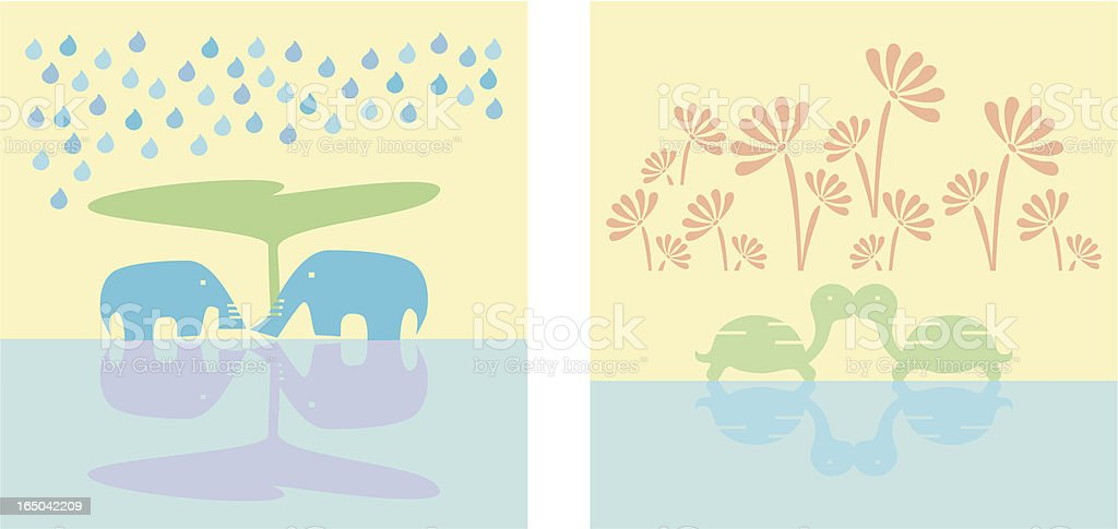 Romantic couples (vector) royalty-free stock vector art