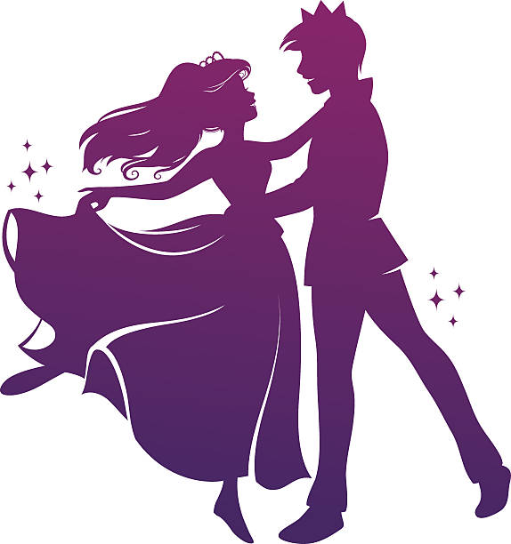 romantische dance - prince stock-grafiken, -clipart, -cartoons und -symbole