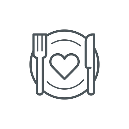 Romantic dinner icon