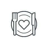 istock Romantic dinner icon 1126068934