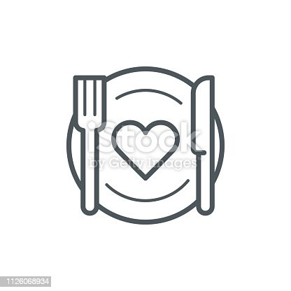 istock Romantic dinner icon 1126068934
