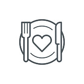 Romantic dinner icon,vector illustration. EPS 10.