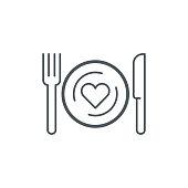 Romantic dinner icon,vector illustration. EPS 10.