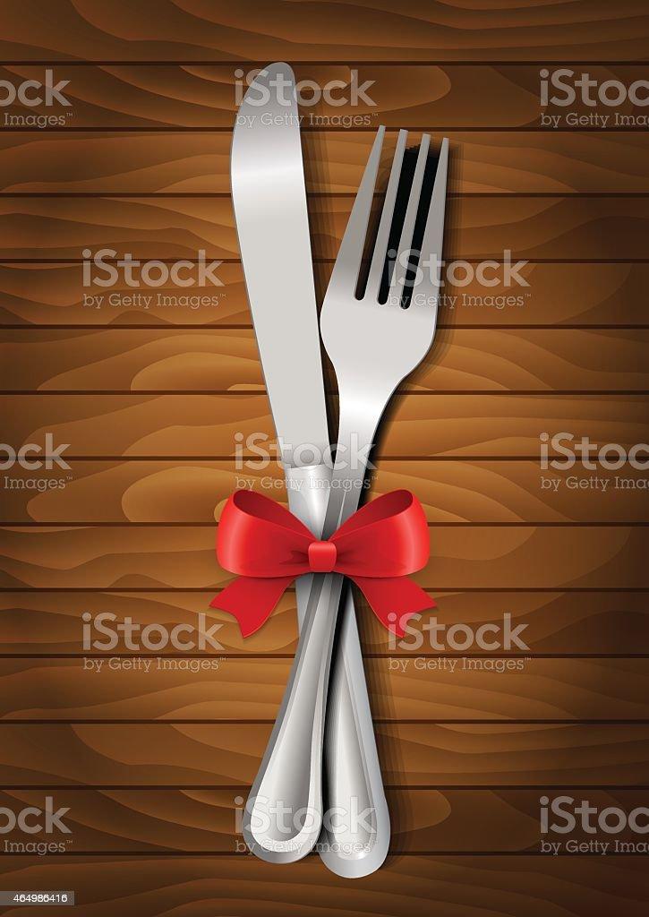 Romantic dinner vector art illustration