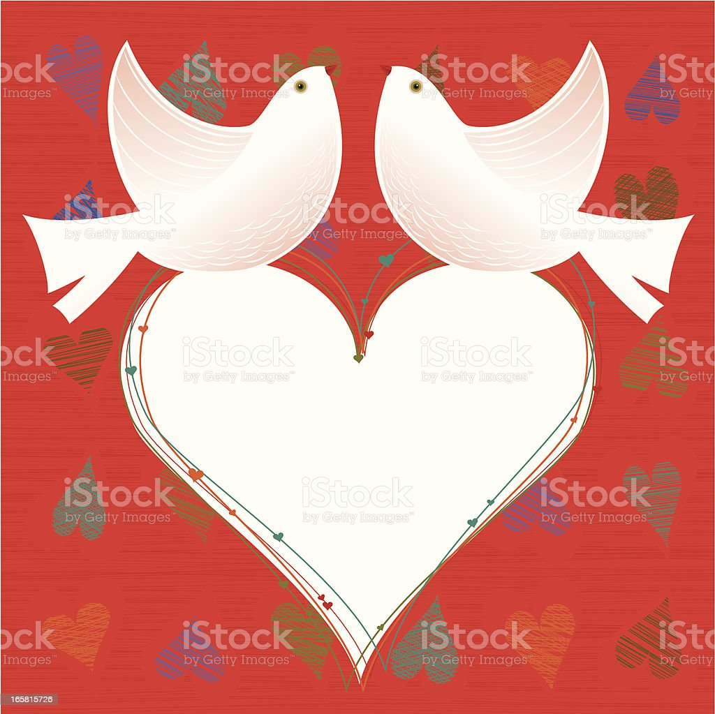 Romantic Doves royalty-free romantic doves stock vector art & more images of copy space