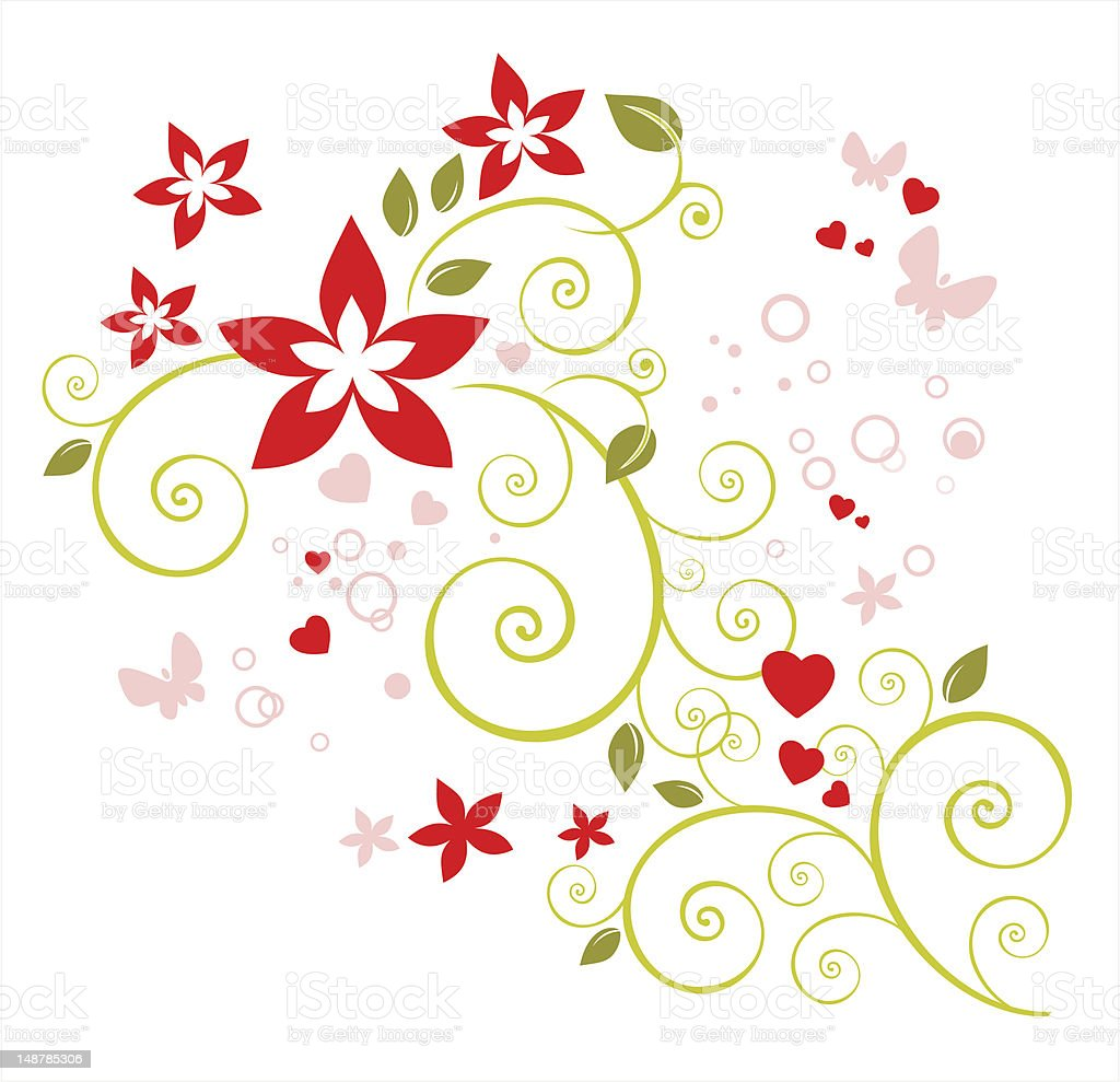 romantic floral pattern royalty-free stock vector art