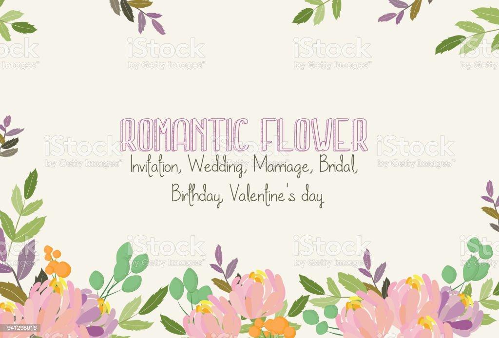 Romantische Bloem Uitnodiging Bruiloft Huwelijk Bridal Verjaardag