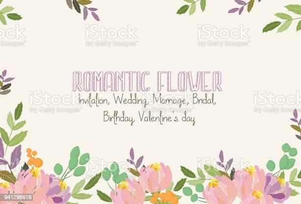 Romantic flower invitation wedding marriage bridal birthday day vector id941298616?b=1&k=6&m=941298616&s=612x612&h=9wnvfrm6o2e9n7nnzos5o995uexnpxy7umylppq voo=