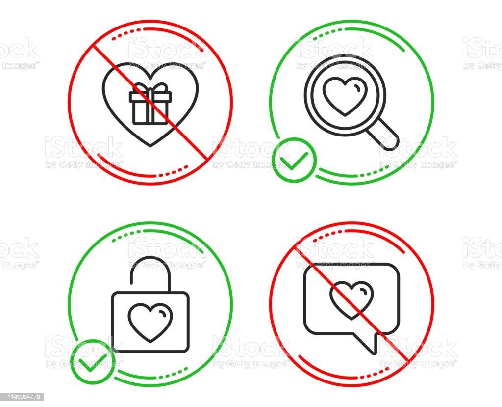 Romantische Geschenk Suchliebe Und Hochzeit Locker Icons