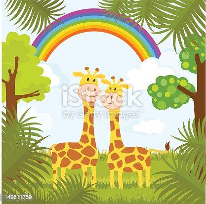 istock Romantic Giraffe Couple 149811759