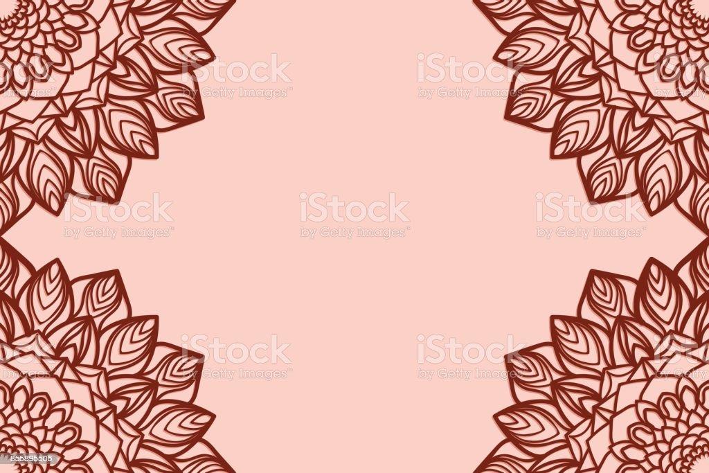 Tarjeta De Felicitación Romántica Con Mandala Floral Ilustración De ...
