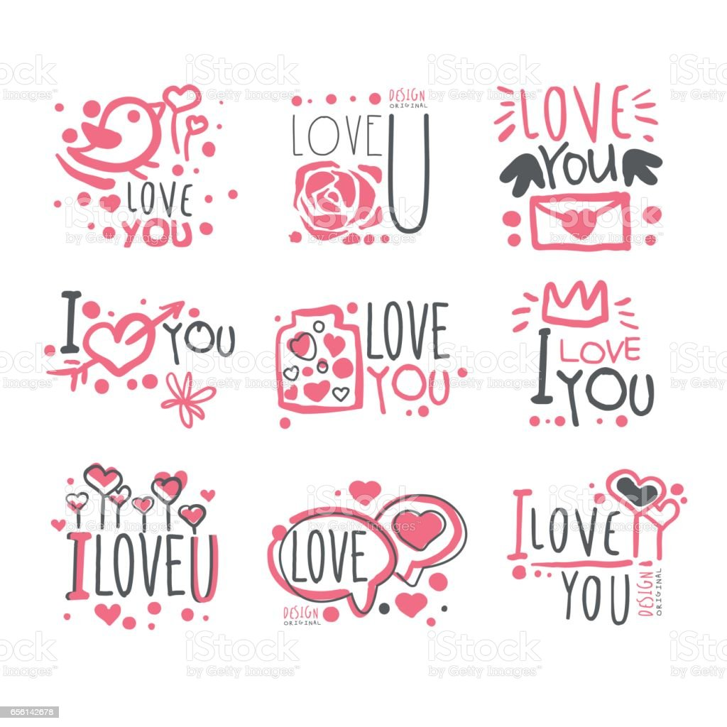 romantic i love you message for st valentines day postcard colorful