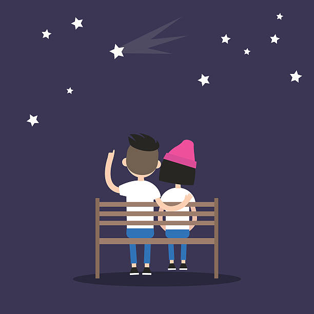 romantic illustration for valentine's day - date night stock illustrations