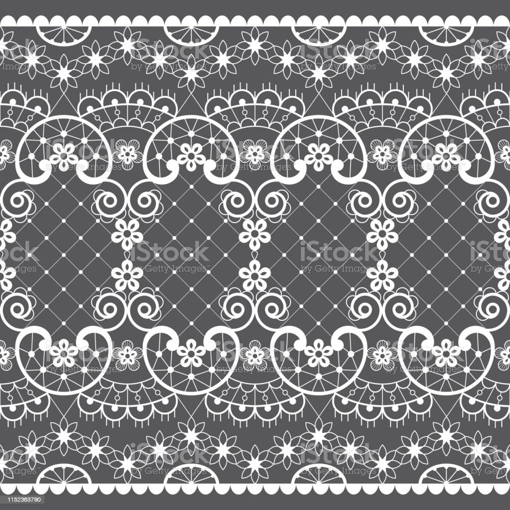romantic lace seamless vector pattern vintage wedding lace design in white on gray background stock illustration download image now istock romantic lace seamless vector pattern vintage wedding lace design in white on gray background stock illustration download image now istock