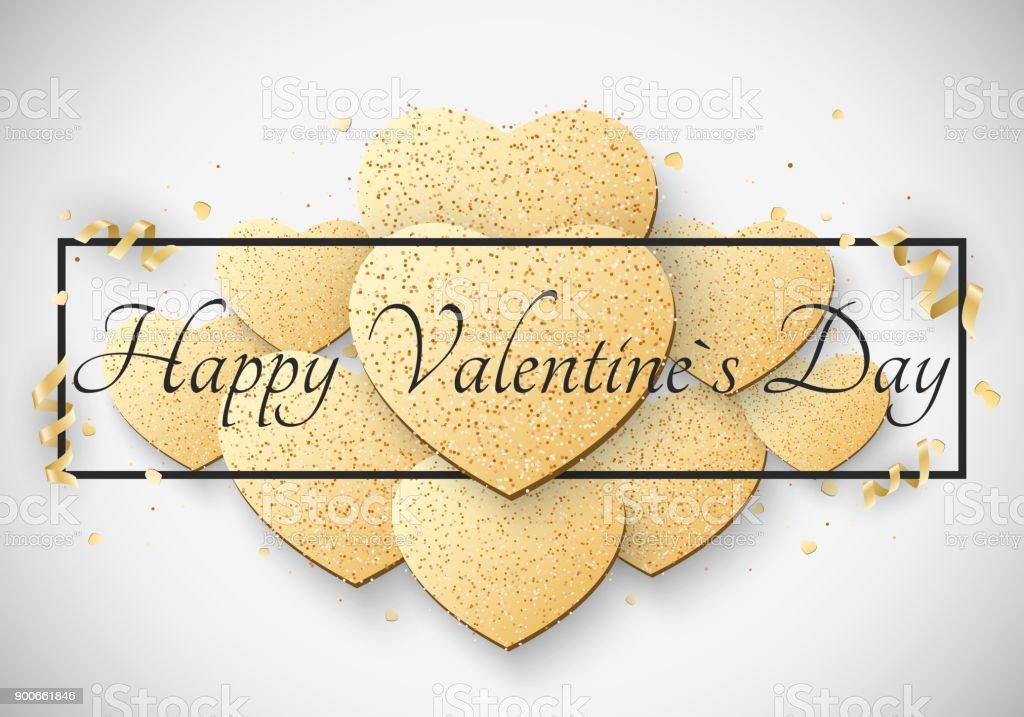 Tarjeta Luz De Lujo Romántico Para El Día De San Valentín Gran ...