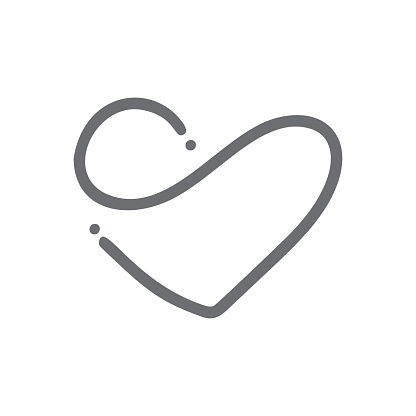 Download Romantic Monoline Infinity Calligraphy Vector Heart Love ...