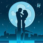 Romantic night on the roof