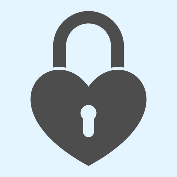 illustrazioni stock, clip art, cartoni animati e icone di tendenza di romantica icona solida lucchetto. serratura a forma di cuore. concetto di design vettoriale delle risorse nuziali, pittogramma in stile glifo su sfondo bianco, uso per web e app. eps 10. - near