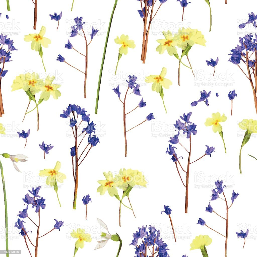 Romantic pattern scanned from natural spring flowers stock vector romantic pattern scanned from natural spring flowers royalty free romantic pattern scanned from natural spring mightylinksfo Gallery