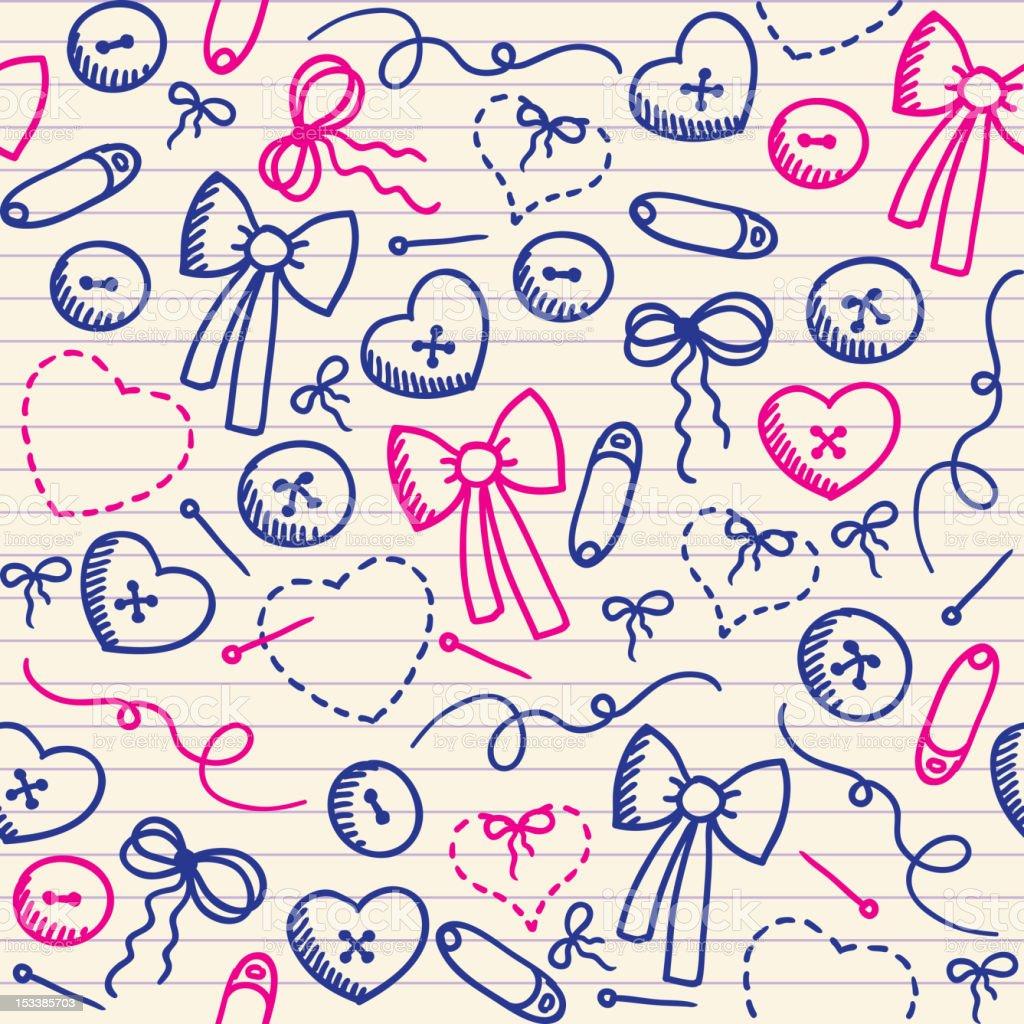 romantic pattern royalty-free stock vector art