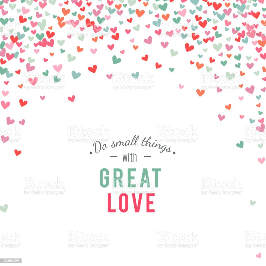 Romantic pink and blue heart background. Vector illustration vector art illustration