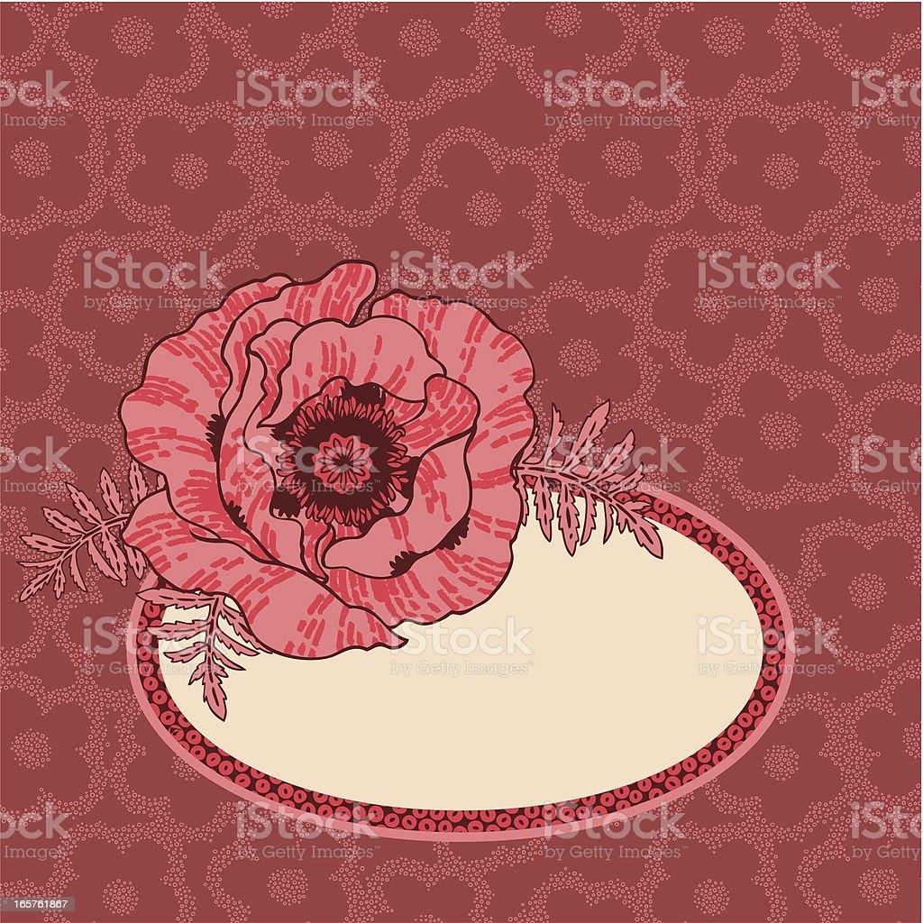 Romantic Poppy royalty-free stock vector art