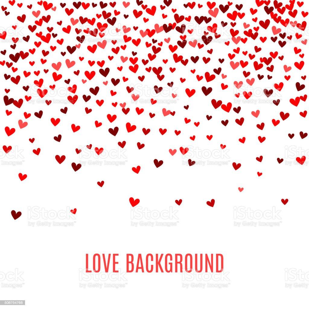 Romantic red heart background. Vector illustration vector art illustration