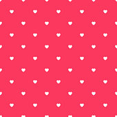 Romantic Red Seamless Polka Heart Vector Pattern Background for Valentine Day ( February 14 ), 8 March, Mother's Day, Marriage, Birth Celebration. Lovely Chic Design.