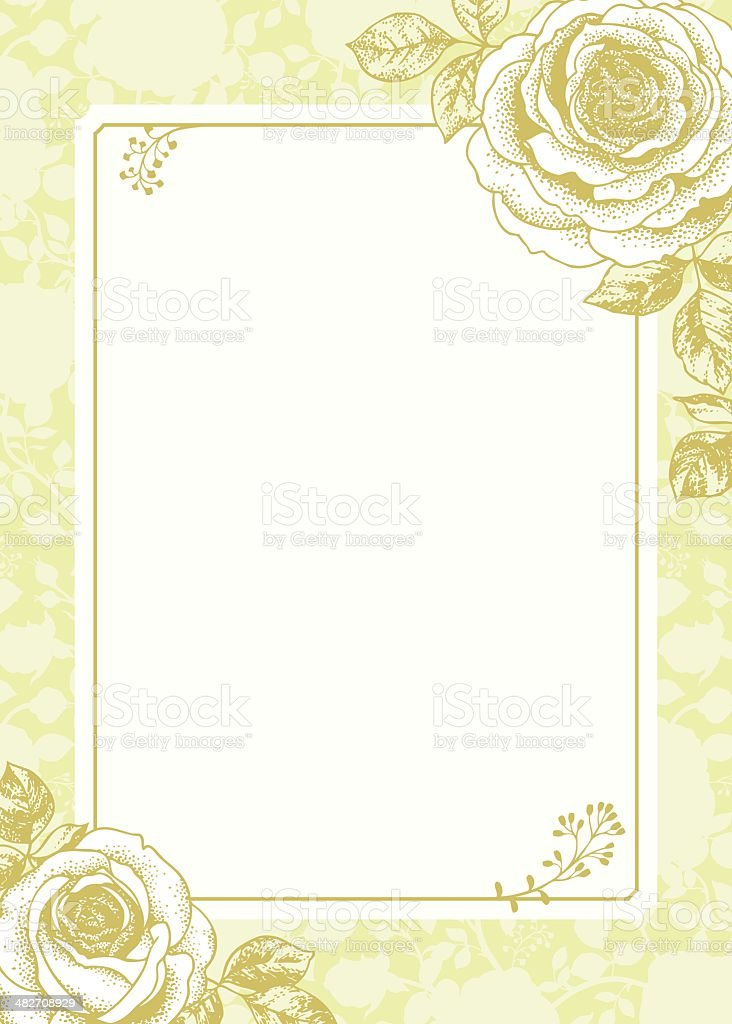Romantic Roses royalty-free stock vector art