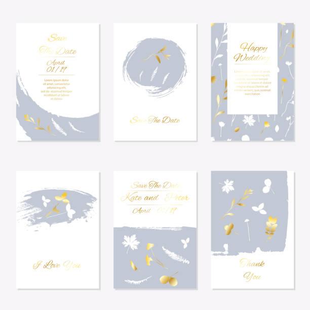 romantic tender floral design for wedding invitation - christening stock illustrations, clip art, cartoons, & icons