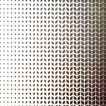 Romb in lines shape pattern on white background. Horizontal size gradient.