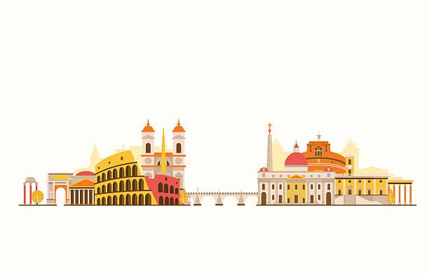 illustrations, cliparts, dessins animés et icônes de abstrait sur la ville de rome - rome