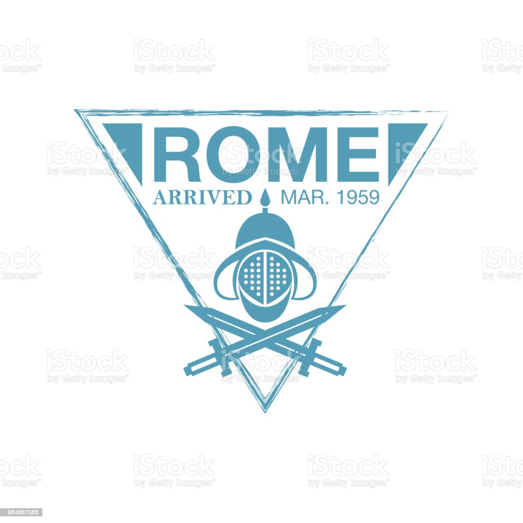 Rome arrival ink stamp on passport. royalty-free rome arrival ink stamp on passport stock vector art & more images of absence