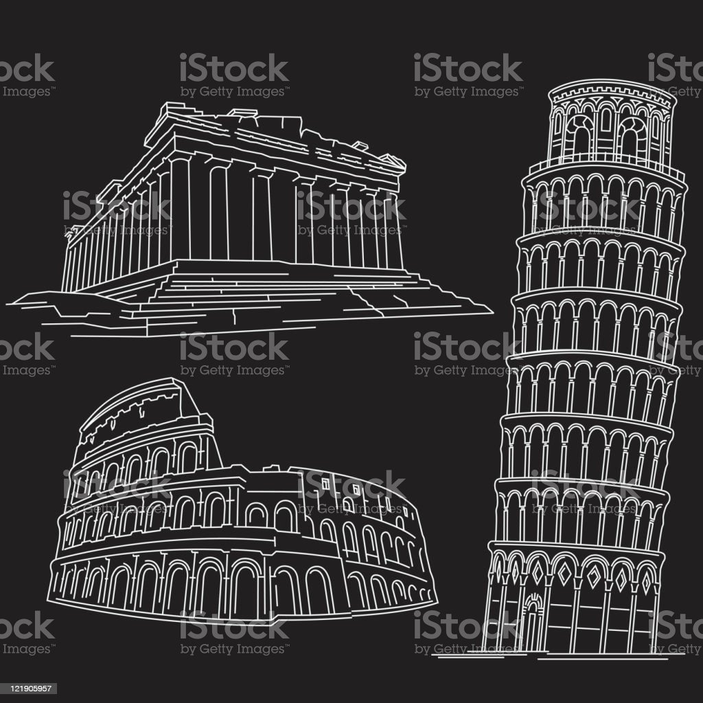 Rome Building vector art illustration