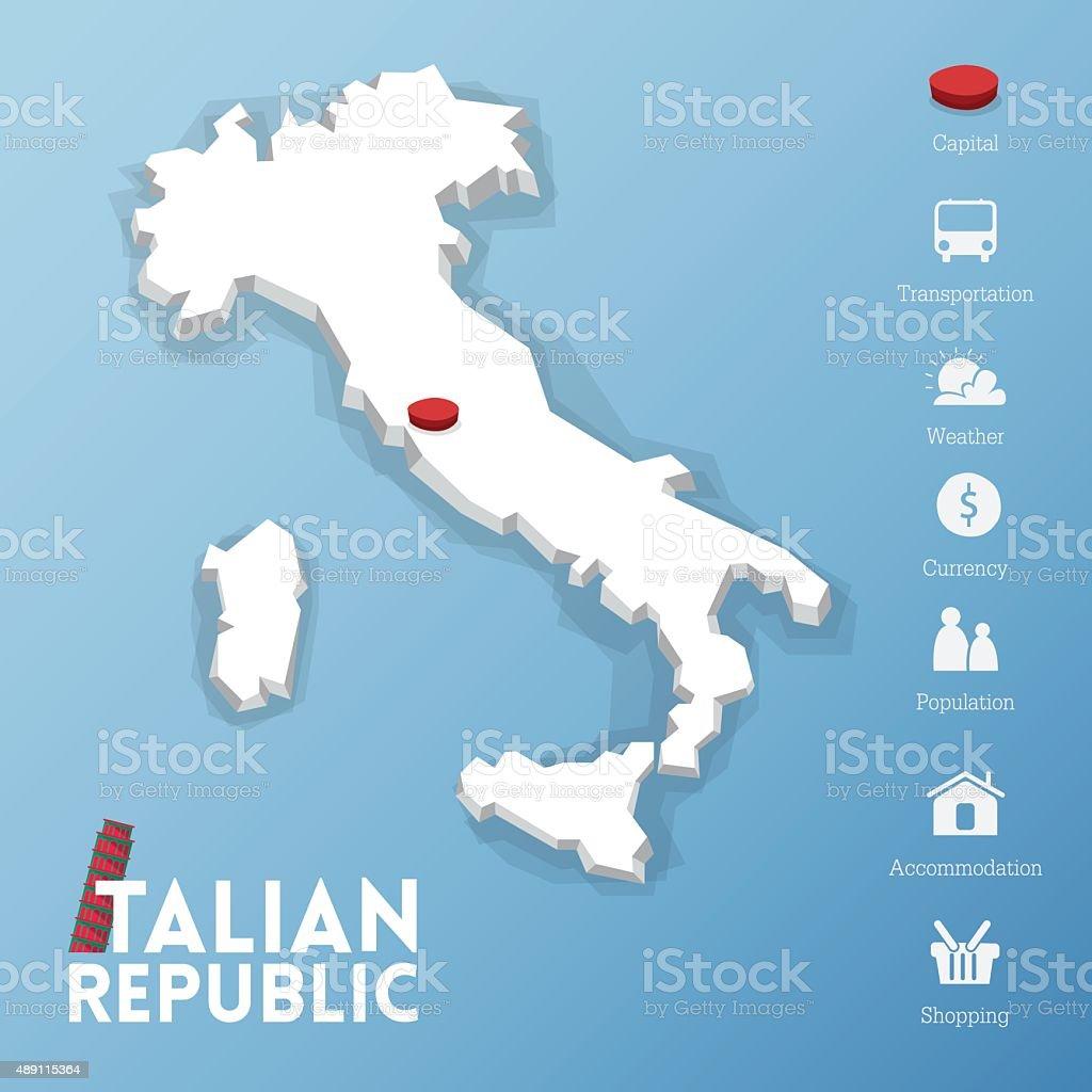 Rome City Italian Republic Map Stock Vector Art More Images Of