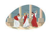 istock Rome, history, conspiracy, assassination concept 1276599120