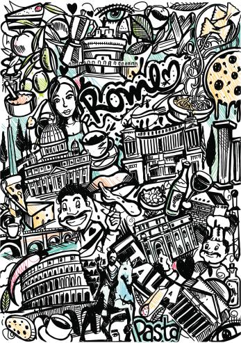 Rome Italia sketch