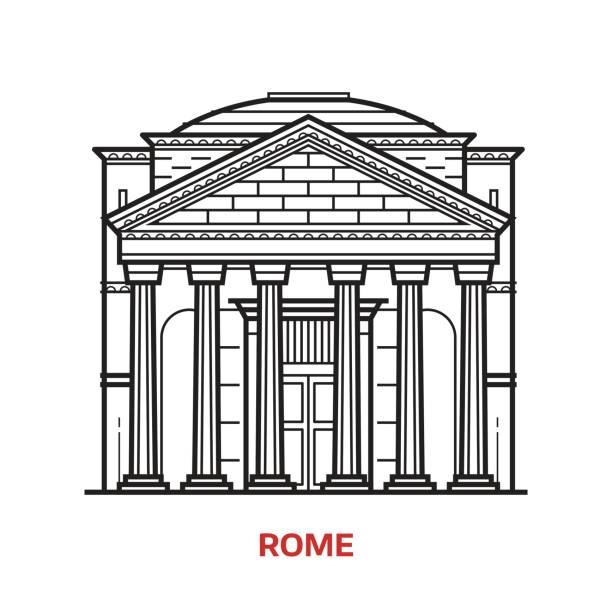 Rome Landmark Vector Illustration vector art illustration